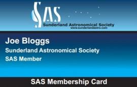 SAS Membership Card to all paid-up members