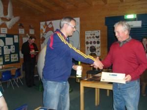 D Ryles receiving his certificate