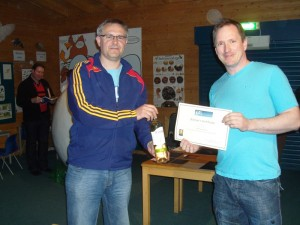 O Lowery Receiving his certificate