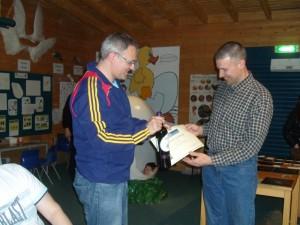 Stephen Carr receiving his award
