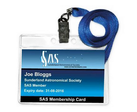 Sunderland Astronomical Society Members ID Badge