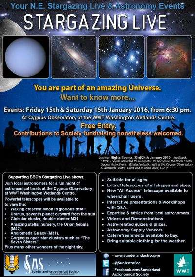 North East Stargazing Live Event January 2016