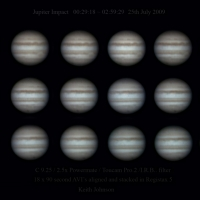 Jupiter Asteroid Impact Sequence