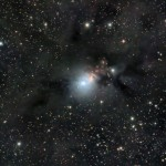 NGC1333: Reflection Nebula in Perseus, also showing the dark structures, taken by Paul Jenkins.