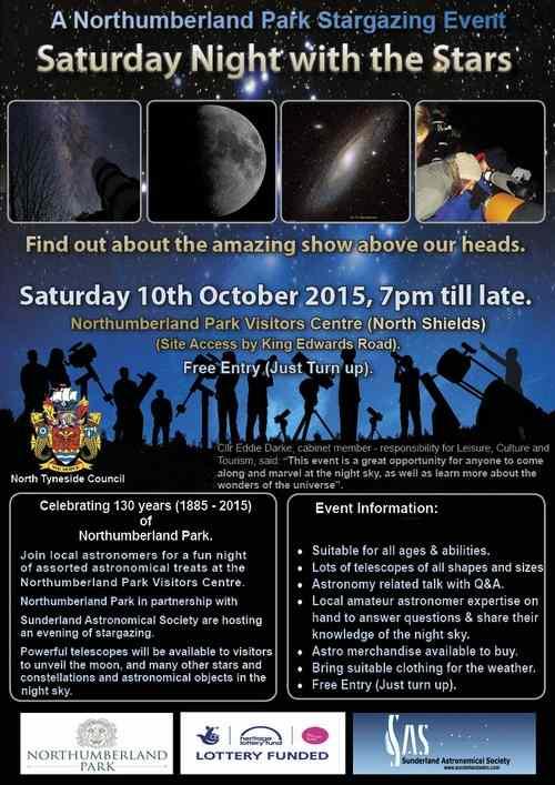 Northumberland Park Stargazing Event